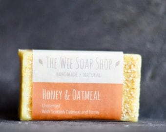 All Natural Honey and Oatmeal soap bar
