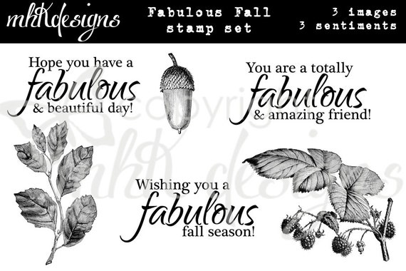 Fabulously Fall Digital Stamp Set