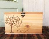 Wedding Card Box, Large Card Box, Rustic Wedding, Wedding Cards, Laser engraved Wedding card Box, Wedding Decor, card box
