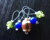 Pigskin Party Exclusive- Team Colors Set of Five Stitch Markers