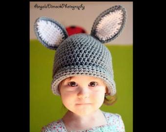 Bunny Hat - Easter Bunny Hat - Baby Bunny Hat - Kids Bunny Hat - Bunny Rabbit Hat - Animal Hat - Easter - Photo Prop