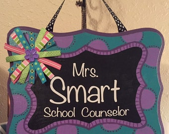 Personalized Teacher Name Sign