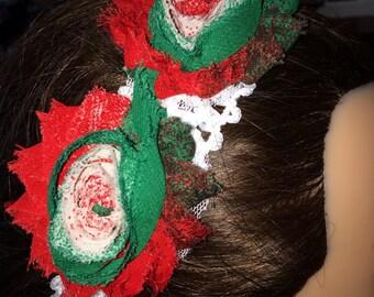 Christmas Rose Headband