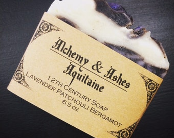 Aquitaine - 12th Century Cold Process Soap - Plant Based with Herbs & Essential Oils