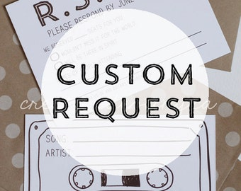Custom charge for RSVP card