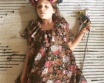 Boho Flower Girl Dress/Vinatge Dress/Flower Girl/wedding