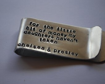 Money Clip, Aluminum, for the little money my daughters haven't taken-Father's day