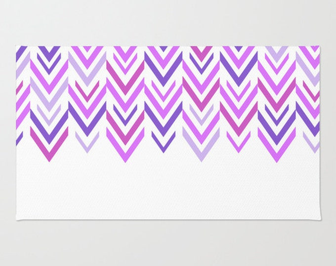 Purple Floor rug - Room Rug - Shades of Purple - Purple and White Rug - Bathroom Rug - Throw Rug - Made to Order