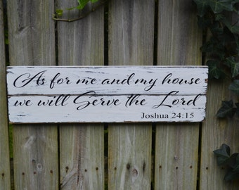 Special Price for March!!! As for me and my house, we will serve the Lord | scripture sign | distressed sign | Joshua 24:15 | rustic sign