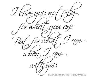 I Love You - Elizabeth Barrett Browning // Love Quote - Instant Digital Download Printable Art // Country Wedding // Australia