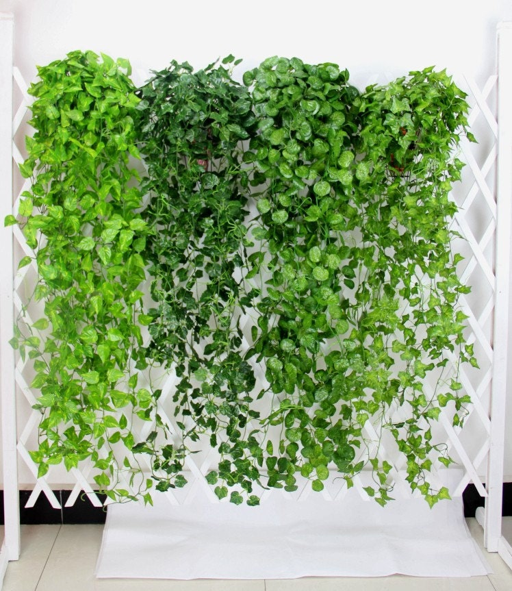 2 Bundle Artificial Ivy Leaf Garland Hanging Plants Vine