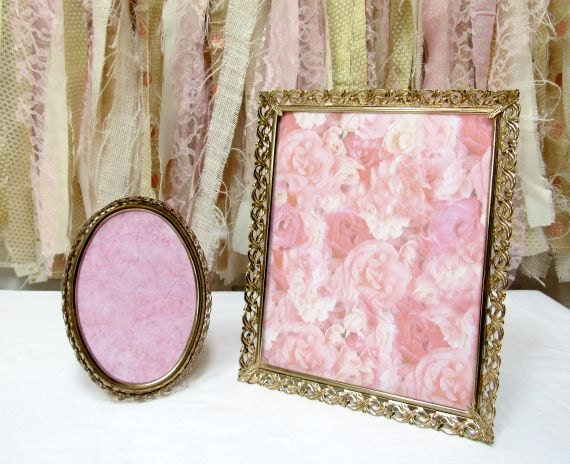 Gold Frames Oval Square Wedding Table Number Picture Frame
