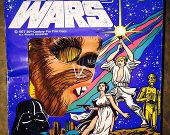 Rare Vintage Ben Cooper Star Wars Chewbacca Costume Size L 12-14 in Good Condition with Original Box