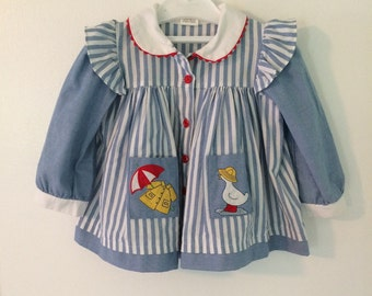 Vintage girls rain jacket
