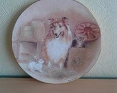 SALE Three's Company Pam Cooper RSPCA Collectable Plate 150th Anniversary Dogs Home Decor Compton & Woodhouse