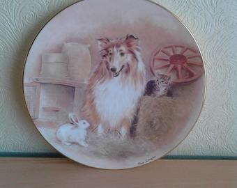 Three's Company Pam Cooper RSPCA Collectable Plate 150th Anniversary Dogs Home Decor Compton & Woodhouse