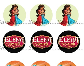 INSTANT Download!!! Elena of Avalor Bottle Caps, bottlecaps Images- DIGITAL or PRINT-Tags-Cupcake Toppers-Scrapbooking and More.