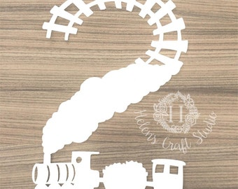 Train 2nd birthday SVG cutting file and DXF file for silhouette cameo and cricut cut / second birthday decal file and vinyl