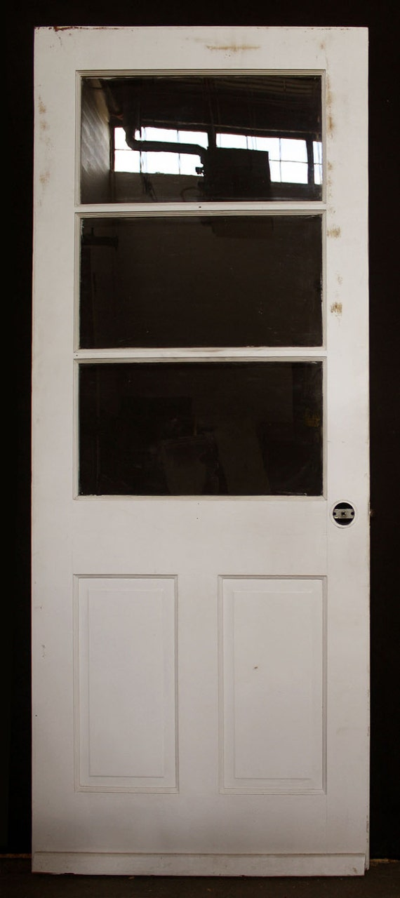 32 x79 vintage wood wooden exterior entry side back door