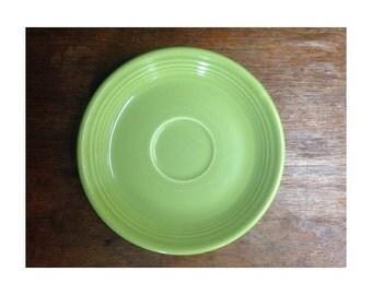"""Vintage Fiesta Ware - 6"""" Saucer Plate - Lemongrass Green 1950's"""