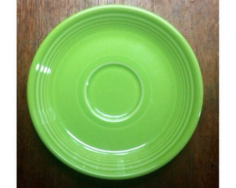 "Vintage Homer Laughlin Fiesta Ware -Lead Free- 6"" Saucer -Green-"
