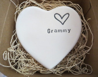 Grammy Gift, ring dish,  wedding ring holder, black and white matte, Gift from Grandchild, handmade  pottery, Gift Boxed, MADE TO ORDER