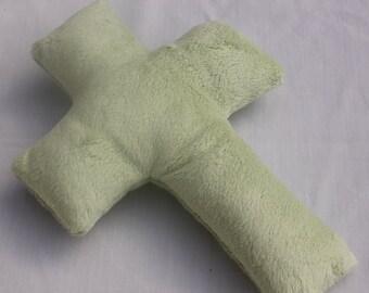 Snuggle Cross - Stuffed Cross - celery green