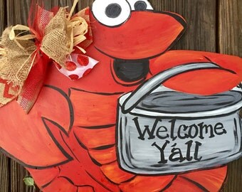 Cutsy Crawfish door hanger