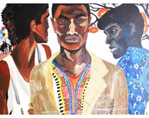 Giclee Art Print from original painting titled Three Men Reflective