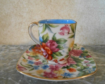"1940's ( "" Occupied Japan "" ) Ceramic Tea Cup with Saucer"