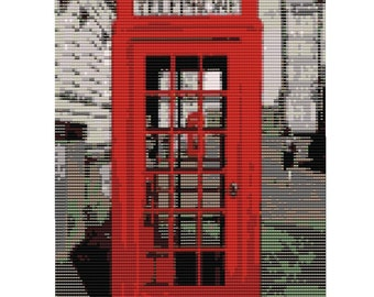 Telephone Box Loom Tapestry
