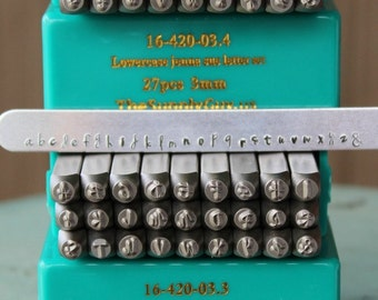 3mm jenna sue font alphabet letter combination stamp set 3mm combo jewelry metal stamps sgch jsujsl3mm