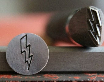 Lightning Bolt Metal Design Stamp- Available in 3 Different Tool Sizes-Made in USA-Made For Harder Metal-Advantage Stamp Series-SGAD-13