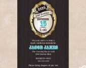 Beer and Bottles Dad Baby Shower Invitations - Printable Baby Shower Invitations for Dads