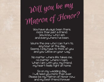 snap maid of honor poem etsy photos on pinterest