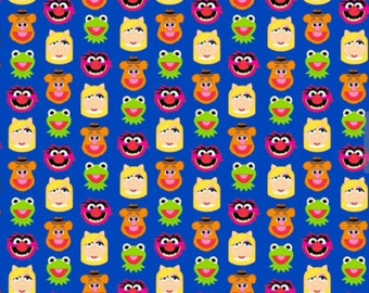 Sesame Street Muppets Friends Emoji Cotton Fabric Sold by the Yard.  Spring Creative Fabric