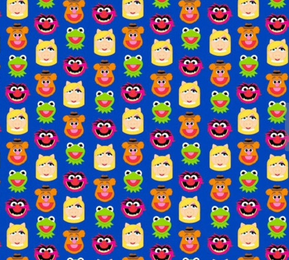 Sesame street muppets friends emoji cotton fabric sold by the for Emoji fabric