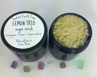 Lemon Trio Hemp Sugar Scrub - Organic