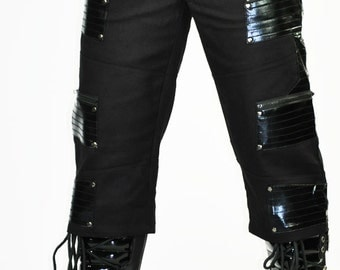 Cryoflesh Paragon Cybergoth Cyberpunk Ribbed Shiny Industrial Festival Boot Shorts