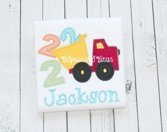 Birthday Dump truck Tee or Bodysuit- Personalized Dump Truck Shirt