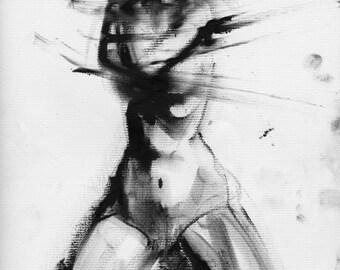 Haunting Fine Art Figure Drawing, No. 87
