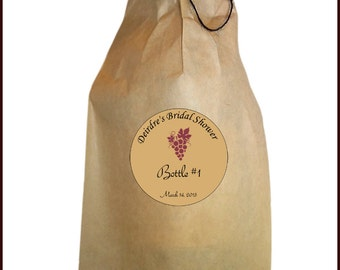 Wine Tasting Kit - Blind Wine Tasting Kit - Wine Bags - Wine Tasting Bags - Wine Tasting Kit Bags, Labels, and Twine