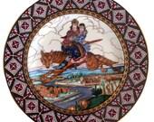 Heinrich Russian Fairy Tale Plate Ivan and Tsarevna on the Grey Wolf, Zvorykin, Russian Folk Art, Villeroy and Boch