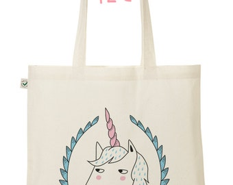 "Tote Bag ""Babyblue unicorn"""