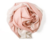 SALE XL Gala Scarf - Pink, Light Summer Scarf, Screen Printed Shawl, Stunning Unique Gift