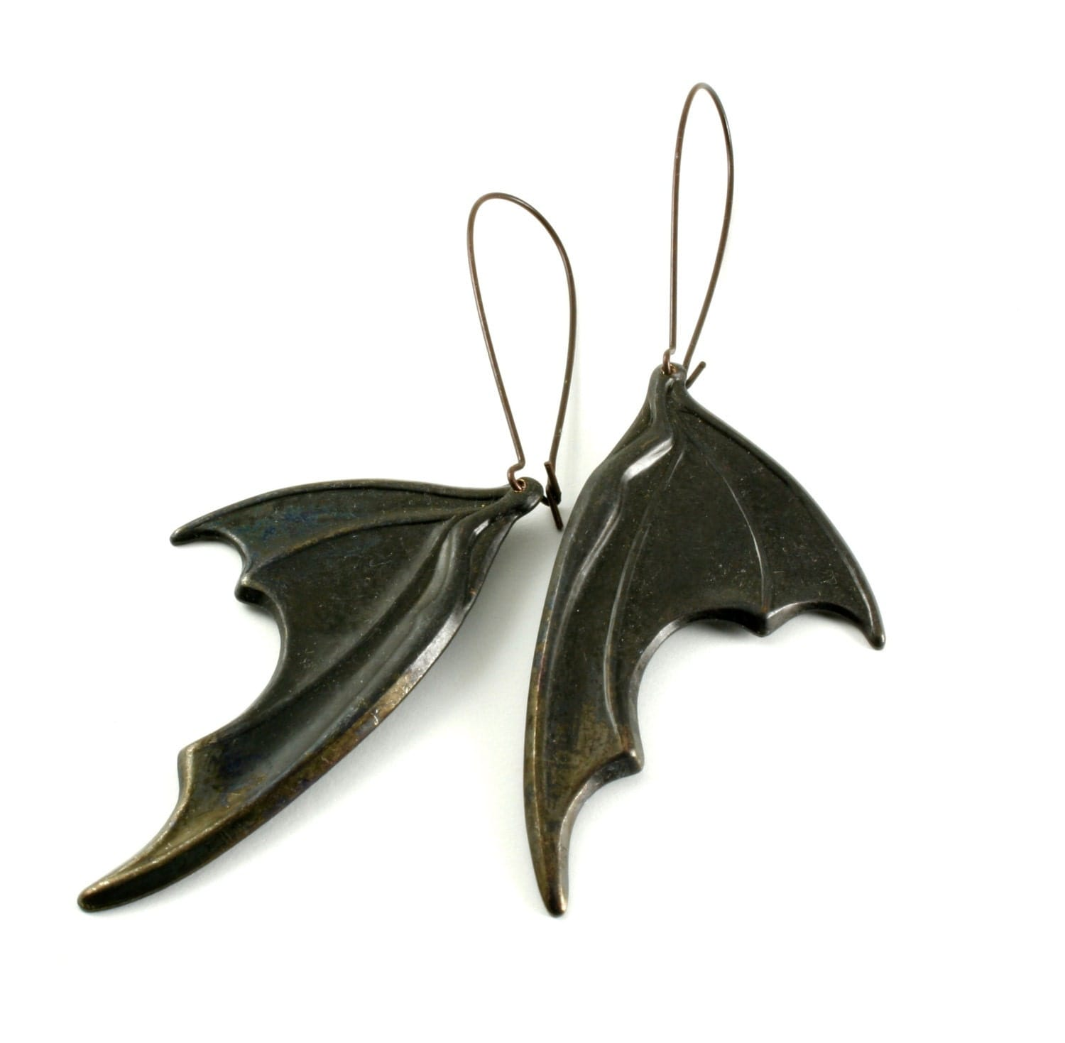 Black Bat Wing Earrings Dragons Wings Earrings Neo Victorian - photo#39
