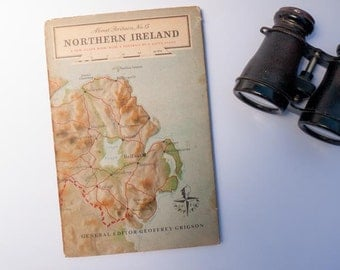 Vintage book: 'About Britain No. 13 'Northern Ireland' Geoffrey Grigson - hardcover with dust jacket - 1951 - 1950s British travel