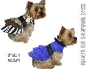 Steampunk Dog Dress Pattern 1591  * Small & Medium * Designer Dog Clothes Sewing Pattern * Steampunk Dog Harness Dress * Dog Apparel