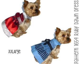 Ruby Dawn Dog Dress Pattern 1654 * XXLarge * Dog Clothes Sewing Pattern * Dog Harness Dress * Designer Dog Clothes * Dog Apparel