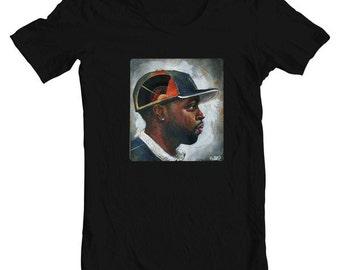 "Hip Hop J Dilla T-Shirt - Rapper Shirt - Art T-Shirt - Men's BLACK Tee - ""J-Dilla"" by Black Ink Art"
